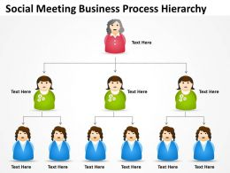 Sample Business Powerpoint Presentation Social Meeting Process Hierarchy Slides