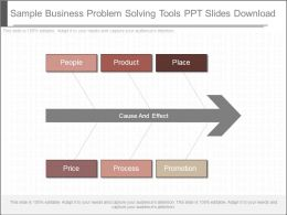 Sample Business Problem Solving Tools Ppt Slides Download