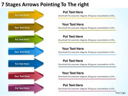 Sample Business Process Diagram 7 Stages Arrows Pointing To The Right Powerpoint Slides