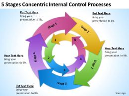 Sample Business Process Diagram Control Processes Powerpoint Templates PPT Backgrounds For Slides