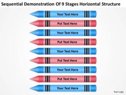 Sample Business Process Diagram Demonstration Of 9 Stages Horizontal Structure Powerpoint Templates