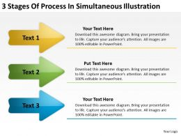 Sample Business Process Diagram Stages Of Simultaneous Illustration Powerpoint Templates