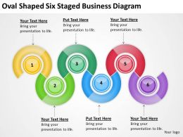 Sample Business Process Flow Diagram Oval Shaped Six Staged Powerpoint Slides