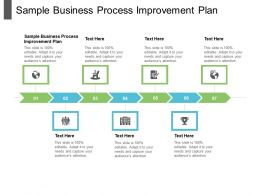 Sample Business Process Improvement Plan Ppt Powerpoint Presentation File Pictures Cpb