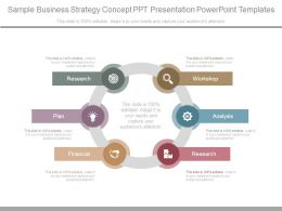 Sample Business Strategy Concept Ppt Presentation Powerpoint Templates
