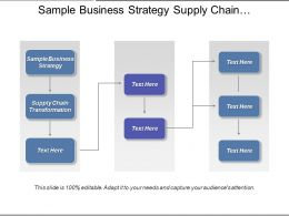 Sample Business Strategy Supply Chain Transformation Behavior Strategy Cpb