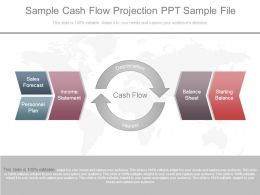 Sample Cash Flow Projection Ppt Sample File