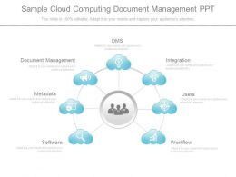 Sample Cloud Computing Document Management Ppt