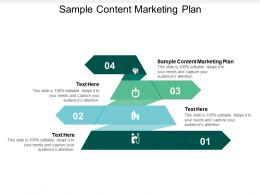 Sample Content Marketing Plan Ppt Powerpoint Presentation Gallery Information Cpb