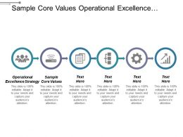 Sample Core Values Operational Excellence Strategy Employment Lifecycle Cpb
