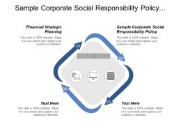 Sample Corporate Social Responsibility Policy Financial Strategic Planning Cpb