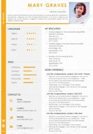 Sample Curriculum Vitae Template For Graphic Designer