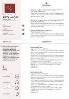 Sample Curriculum Vitae Template With Awards And Certifications