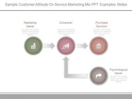 Sample Customer Attitude On Service Marketing Mix Ppt Examples Slides