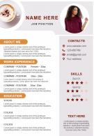 Sample CV Editable A4 Resume Template Innovative Format