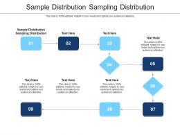 Sample Distribution Sampling Distribution Ppt Powerpoint Presentation Inspiration Examples Cpb