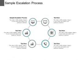 Sample Escalation Process Ppt Powerpoint Presentation Pictures Themes Cpb