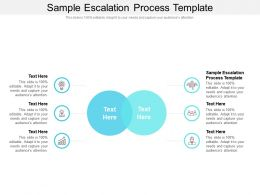 Sample Escalation Process Template Ppt Powerpoint Layouts Background Cpb