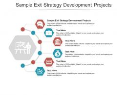 Sample Exit Strategy Development Projects Ppt Powerpoint Presentation Outline Show Cpb
