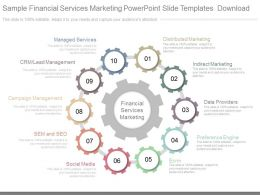 Sample Financial Services Marketing Powerpoint Slide Templates Download