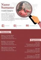Sample Format Of Graphic Designer