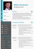 Sample Format Of Resume For Job Application