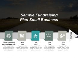 Sample Fundraising Plan Small Business Ppt Powerpoint Presentation Portfolio Templates Cpb