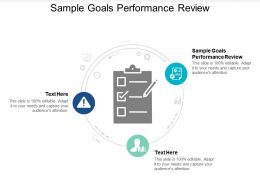 Sample Goals Performance Review Ppt Powerpoint Presentation Styles Master Slide Cpb