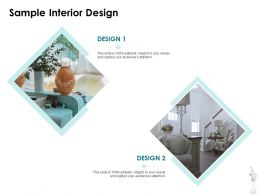 Sample Interior Design Ppt Powerpoint Presentation Icon Tips