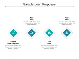 Sample Loan Proposals Ppt Powerpoint Presentation Model Skills Cpb