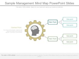 Sample Management Mind Map Powerpoint Slides