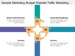 sample marketing budget website traffic marketing managing budget cpb