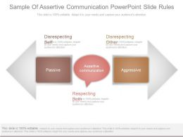 Sample Of Assertive Communication Powerpoint Slide Rules