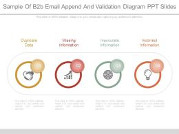 Sample Of B2b Email Append And Validation Diagram Ppt Slides