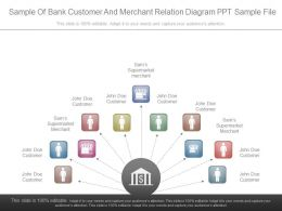 Sample Of Bank Customer And Merchant Relation Diagram Ppt Sample File