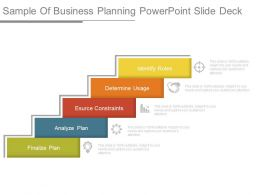 Sample Of Business Planning Powerpoint Slide Deck