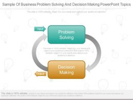 Sample Of Business Problem Solving And Decision Making Powerpoint Topics
