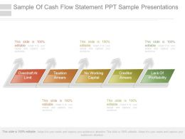 Sample Of Cash Flow Statement Ppt Sample Presentations
