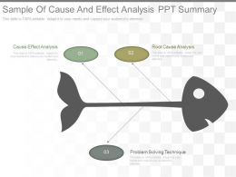 Sample Of Cause And Effect Analysis Ppt Summary