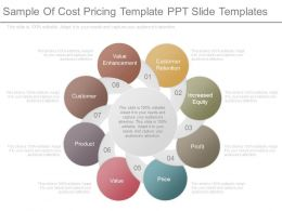 Sample Of Cost Pricing Template Ppt Slide Templates