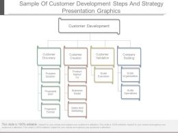 Sample Of Customer Development Steps And Strategy Presentation Graphics