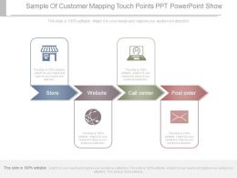 Sample Of Customer Mapping Touch Points Ppt Powerpoint Show
