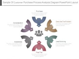 Sample Of Customer Purchase Process Analysis Diagram Powerpoint Layout