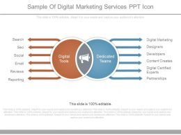 Sample Of Digital Marketing Services Ppt Icon