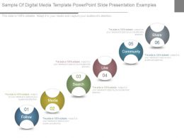Sample Of Digital Media Template Powerpoint Slide Presentation Examples