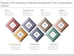 Sample Of E Commerce Website Development Plan Presentation Outline