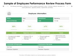 Sample Of Employee Performance Review Process Form