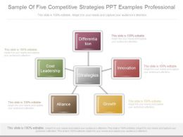 Sample Of Five Competitive Strategies Ppt Examples Professional