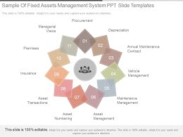 Sample Of Fixed Assets Management System Ppt Slide Templates