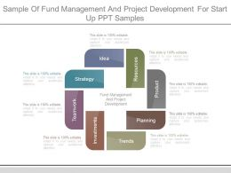 Sample Of Fund Management And Project Development For Start Up Ppt Samples